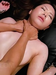 China Mimura Asian gets vibrator and dick in pussy in rough fuck