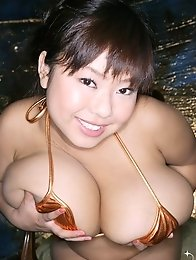 Asian idol Fuko posing in several bikinis