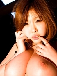 Rio Hamasaki shows big bum in string and big nude hooters