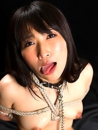 Facefuck slut Minami Sakaida loves to get her mouth pussy fucked.